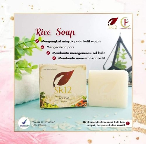 SR12 Rice Soap 60 Gr