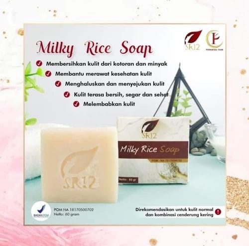 SR12 Milky Rice Soap 60 Gr