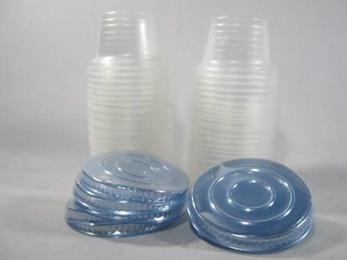 Gelas Puding 65 Ml/90 Ml Isi 50 Pcs - Gelas + Tutup