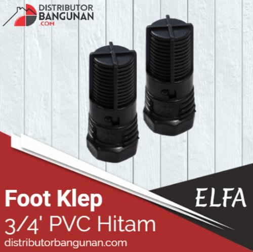 Foot Klep 3per4 Pvc Hitam  ELFA