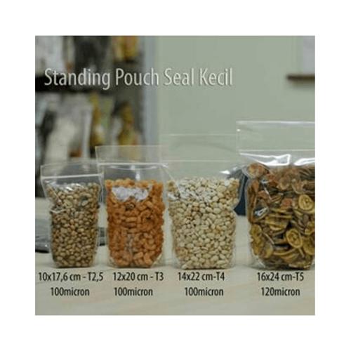 Seal Kecil Pouch PP Bening Ziplock 10 x 17.6