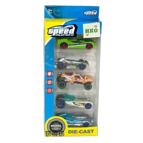 Diecast Metal Speed Car Isi 5 Mobil Besi M389 - Kids Toys