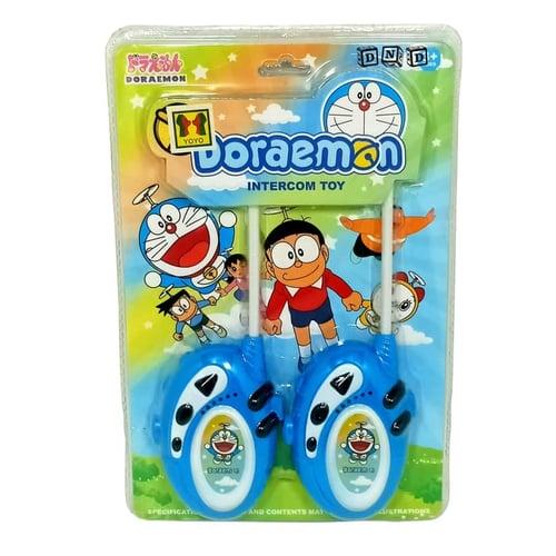 Walkie Talkie Doraemon Hate Nobita Intercom Toy Biru - Kids Toys