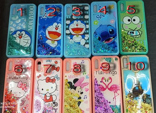 Case Water Glitter Disney Samsung J1 Ace, J2 Prime, J5, A10, A10s, A20 / A30, A20s, A50s A50 A30s, Vivo S1, Y71, Y19, V11, Xiaomi Redmi 4A, 4X, 5A, Note 8, 8 Pro Oppo A39 A57, A71, F5, Realme 5, XT