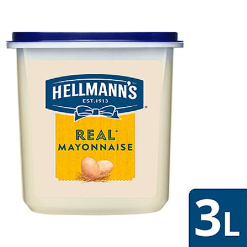 Hellmanns Real Mayo Tub ID 4 x 3 ltr