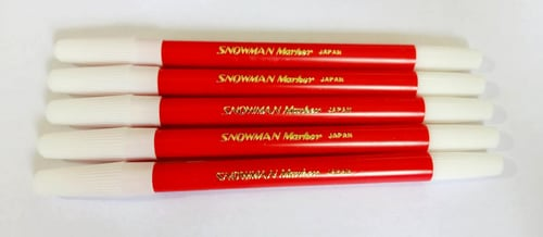 Snowman PW-1A Pencil Marker Red