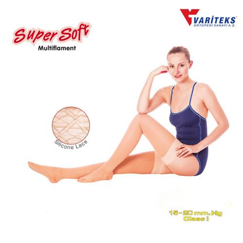 VARITEKS Stocking Varises Thigh High Closed Toe Ccl 1 ( L )