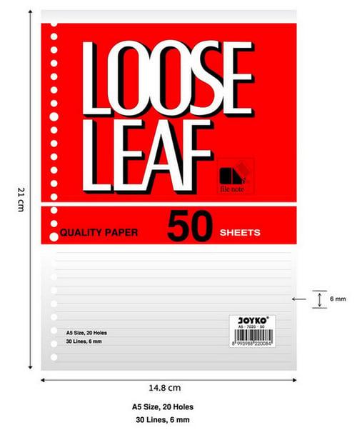 Joyko Loose Leaf A5-7020 ( 50 S)