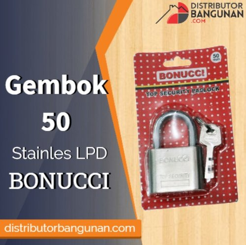 Gembok 50 Stainless Lpd BONUCCI