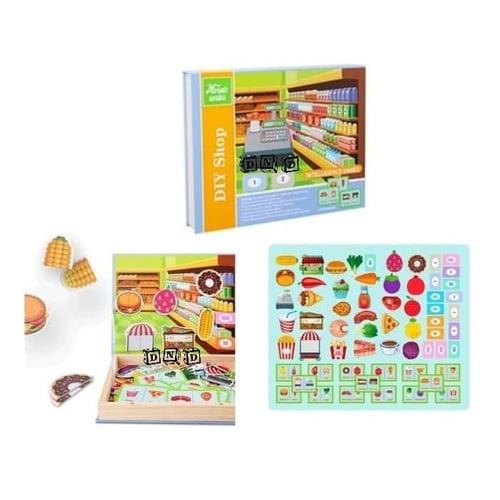 Shop Supermarket Mosaic DIY Magnetic Intelligent - Kids Toys