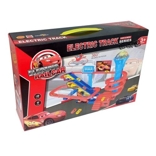 Electric Rail Car Track Set Series Seluncuran Slider Mobil - Kids Toys