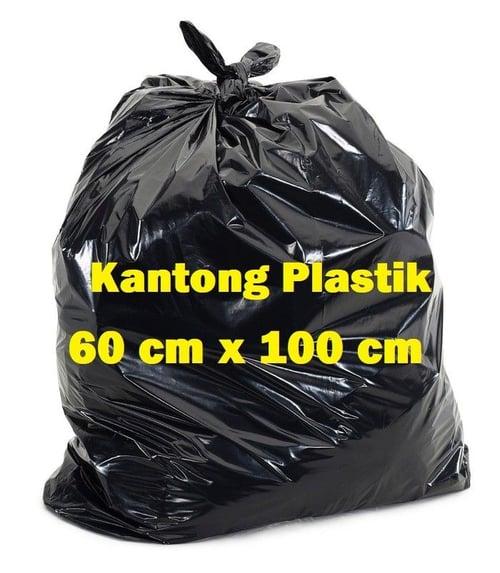 Kantong 1 Pack Sampah 60 x 100  - Plastik Hitam - Sampah Htam 60 x 100 - Plastik Pack2an