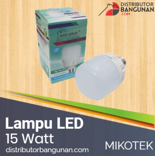 Lampu LED Mikotek 15 watt