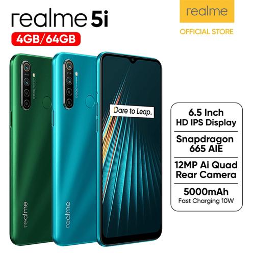 Realme 5i 4GB/64GB Green - Garansi Resmi