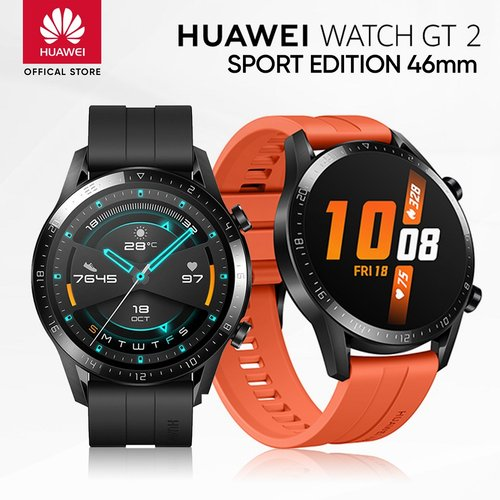 Huawei Watch GT 2 46mm Sport Edition Sunset Orange - Garansi Resmi