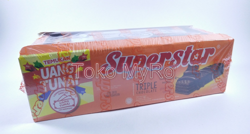 Wafer Superstar Triple Choco / Wafer Coklat Superstar