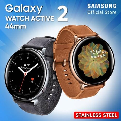 Samsung Galaxy Watch Active2 Watch Active 2 44mm Stainless Steel Black - Garansi Resmi
