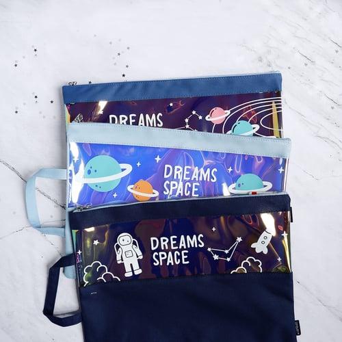 Dreams Space Canvas Tote Folder A4 / Tas Serbaguna / Totebag A4