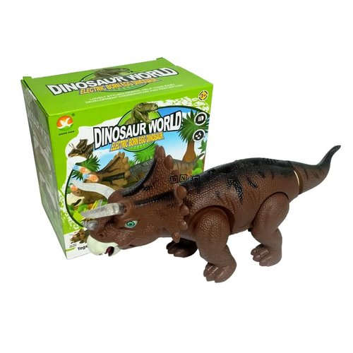Dinosaur World Triceratops Dino Bertelur Projector 666-1A - Kids Toys