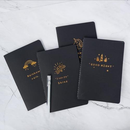 Lucky Star Black Paper Plain Notebook A5 / Buku Tulis A5 / Buku A5