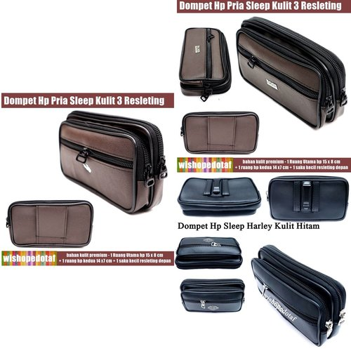 Dompet Hp Pria Sleep Leather 3R