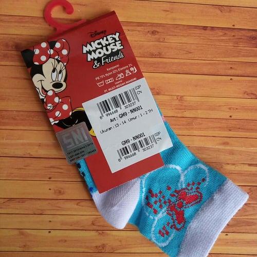 Kaos Kaki Anak Disney Sz 13-14 / 1-2 th Antislip Mundo - Minnie 2 - GM9 - NN001 Biru
