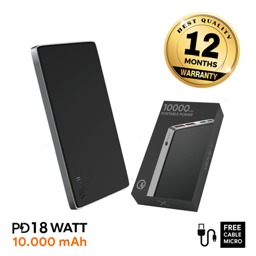 VIDVIE X Powerbank XL-PB702 10000 mAh PD 18W / 2 USB + Type C