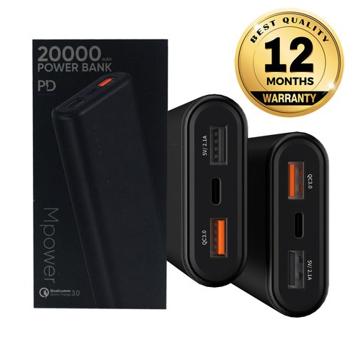VIDVIE X Powerban XL-PB708 20000 mAh PD 45W / QC 3.0 / 2 USB + Type C