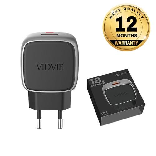VIDVIE X 1 USB Port Travel Charger XL-PLE202 18W / QC 3.0 / Fast Charging