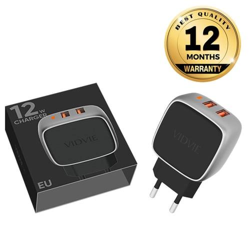 VIDVIE X 2 USB Port Travel Charger XL-PLE203 12W / Fast Charging