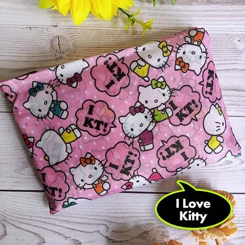 Tas Belanja Lipat / Baggu Bag Motif / Tote Bag Fashion - Hello Kitty 2- I Love Kitty