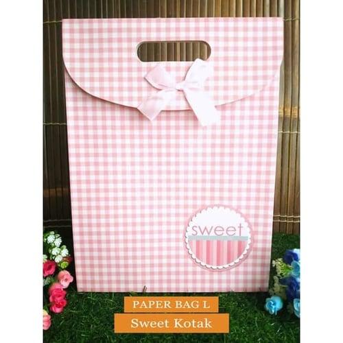 Paper Bag Motif / Tas Kertas Kado / Tas Ulang tahun - L Sweet Series 2 - Sweet Kotak