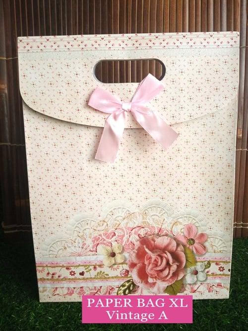 Paper Bag Motif / Tas Kertas Kado / Tas Ulang tahun - XL Casual - Vintage A
