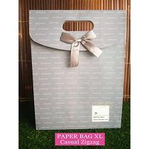 Paper Bag Motif / Tas Kertas Kado / Tas Ulang tahun - XL Casual Zig Zag