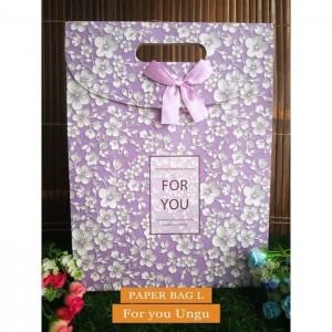 Paper Bag Motif / Tas Kertas Kado / Tas Ulang tahun - L GARDEN - for U ungu