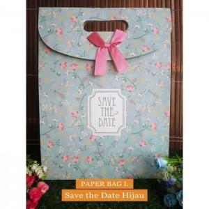 Paper Bag Motif / Tas Kertas Kado / Tas Ulang tahun - L GARDEN- Save  the date Hijau