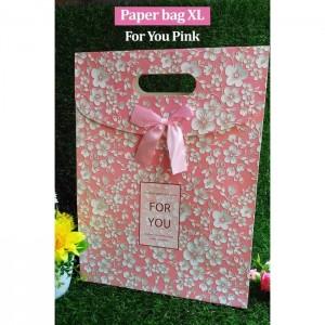 Paper Bag Motif / Tas Kertas Kado / Tas Ulang tahun - XL GARDEN 2-for U Pink