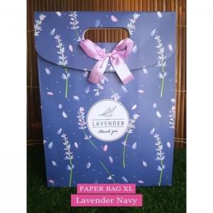 Paper Bag Motif / Tas Kertas Kado / Tas Ulang tahun - XL GARDEN 2-Lavender navy
