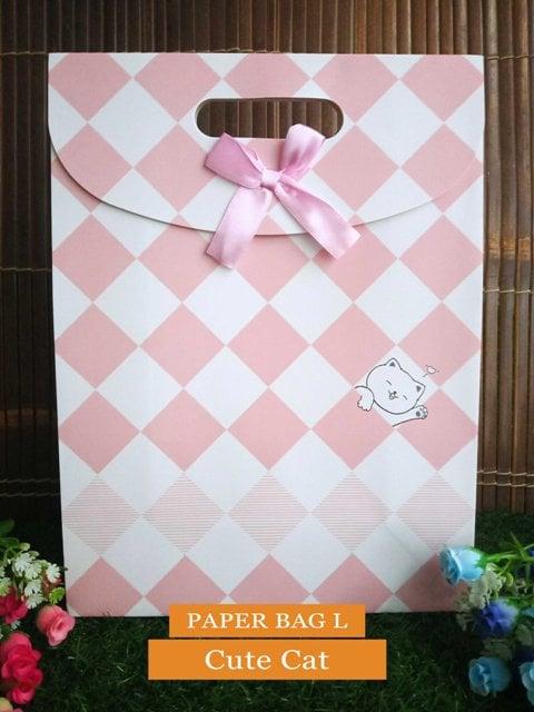 Paper Bag Motif / Tas Kertas Kado / Tas Ulang tahun - L CUTE SERIES 2- Cute Cat
