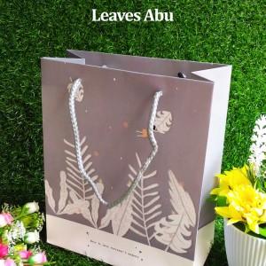 Paper Bag Tali Motif / Tas Kertas Kado / Tas Ulang tahun - M LEAVES - Abu