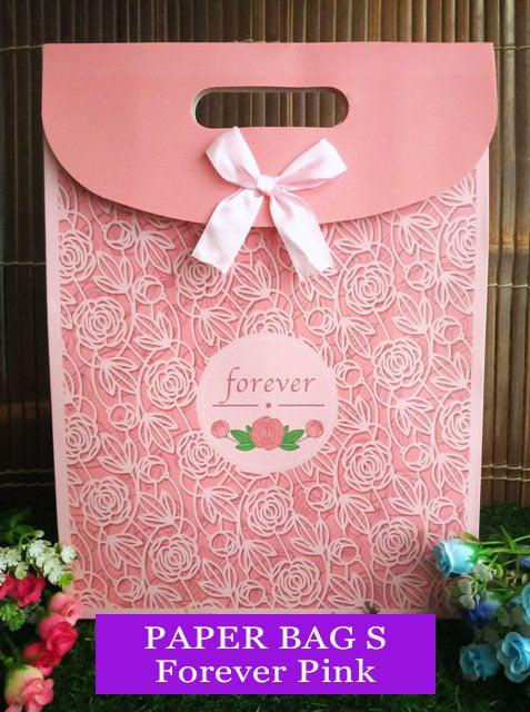 Paper Bag Motif / Tas Kertas Kado / Tas Ulang tahun - S GARDEN 1-forever pink