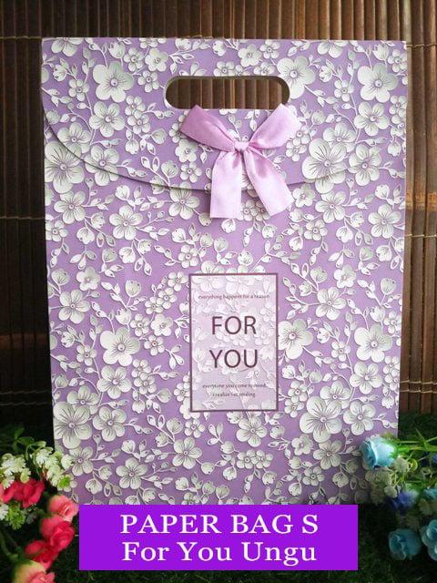Paper Bag Motif / Tas Kertas Kado / Tas Ulang tahun - S GARDEN 1 -for U ungu