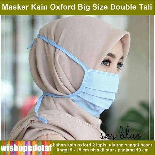 Masker Kain Oxford anti debu dan polusi XL