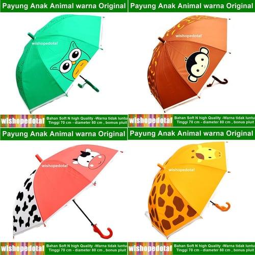 Payung panjang Anak Animal Warna