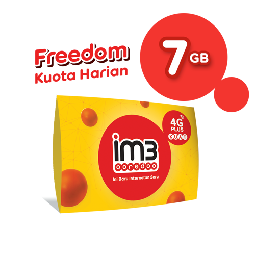 KARTU PERDANA FREEDOM KUOTA HARIAN 1GB per hari Total 7GB 7 Hari