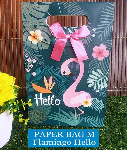 Paper Bag Motif / Tas Kertas Kado / Tas Ulang tahun - M GARDEN1-Flaminggo Hello