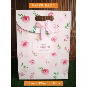 Paper Bag Motif / Tas Kertas Kado / Tas Ulang tahun - L SHABBY FLOWER-Flower Planer Pink