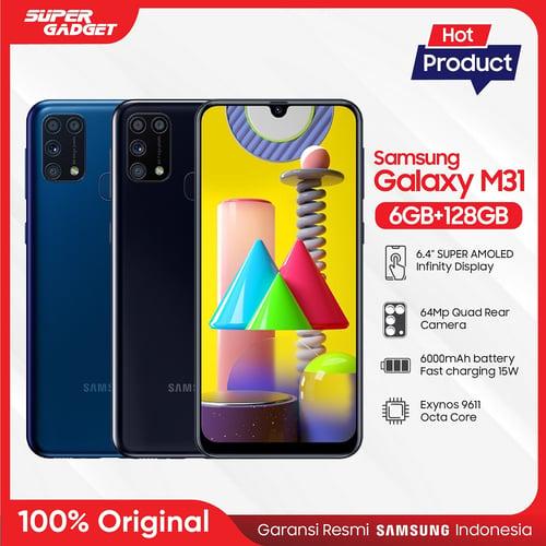 Samsung Galaxy M31 6GB-128GB Blue - Garansi Resmi