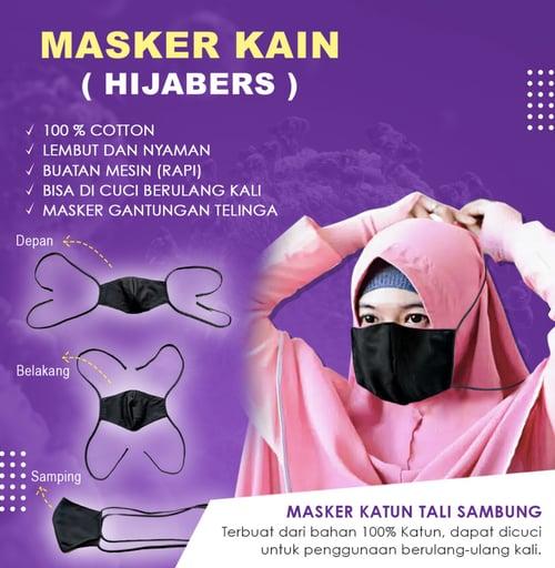 Masker kain hitam hijabers