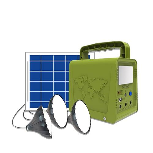 Mini Smart Power Kit LiFePo4 Battery 42Wh with 1pcs Solar Panel Poly 5V5W and 3pcs LED Lamps 3W